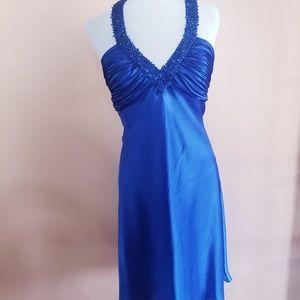 Beautiful Blue Halter Party Dress